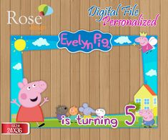 Peppa Pig marco foto / Peppa Pig fiesta / Birthday Backdrops / Photo Booths / Peppa Pig / Peppa Cumpleaños / Peppa Pig Selfie frame / Diseño Birthday Photo Booths, Birthday Backdrop, Birthday Photos, Birthday Party Decorations, 3rd Birthday, Photo Frame Prop, Photo Booth Backdrop, Foto Frame, Peppa Pig