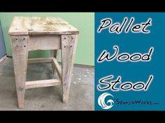 DIY Pallet Stool // How-To (Ep. 53) - YouTube