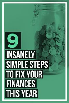 9 Insanely Simple Steps To Fix Your Finances This Year – Finance tips, saving money, budgeting planner Ways To Save Money, Money Tips, Money Saving Tips, Money Hacks, Mo Money, Money Budget, Financial Peace, Financial Tips, Financial Planning