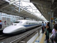 """Known as the """"Bullet Train"""", the Shinkansen is a high-speed inter city train in Japan.    #BulletTrain #Japan"""