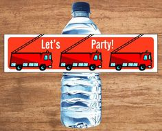 Instant Download Firefighter Party Water Bottle Labels for sale on Etsy.. Check out that cool T-Shirt here: https://www.sunfrog.com/I-love-my-firefighter-Black-Ladies.html?53507
