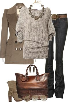 Love the sweater, jeans & boots