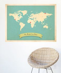 For the little adventurer who is always exploring, this gorgeous map will help them have a better sense of our amazing world. Use the four heart stickers to make this map uniquely theirs by placing the stickers at locations that are meaningful to the family. This ready-to-frame print will look fabulous in a tiny traveler's room so they can always have a sense for their place in this great big world.