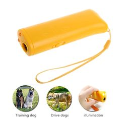 3 in 1 Ultrasonic Anti Bark Stop Barking Dog Training Repeller Control Trainer    Price: 3.70 USD
