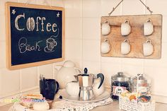 coffee-station fai da te Diy Projects To Try, Craft Ideas, Coffee, Blog, Crafts, Inspiration, Home Decor, Kaffee, Biblical Inspiration