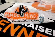 Mean Green Meets Rocky Top, Dry Erase Rock Version. The University of Tennessee Homecoming 2015. Go Vols! Collegereplicas.com