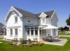 Fassade grau wei das verhei ene haus pinterest fr hliche farben wandfarbe farbt ne und - Wandfarbe lindgrun ...