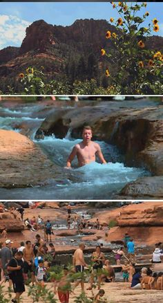 VIDEO: Enjoy the unique natural water slide at Slide Rock State Park. The park is located in beautiful Oak Creek Canyon, about 6 miles north of Sedona on Highway 89A.