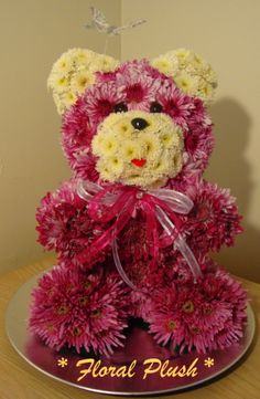Valentine's Day Flowers. Teddy bear made out of real flowers https://www.facebook.com/FloralPlush
