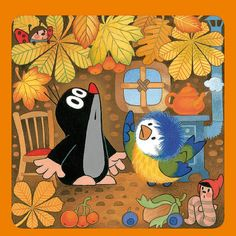 Little Mole Autumn motif