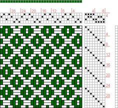 Hand Weaving Draft: 08258, 2500 Armature - Intreccio Per Tessuti Di Lana, Cotone, Rayon, Seta - Eugenio Poma, 4S, 8T - Handweaving.net Hand ...