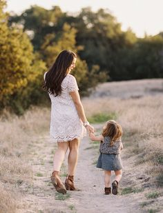 Mother daughter stroll