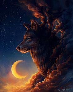 Affirmation - I am always watched over.  original artwork by:  JoJoesArt