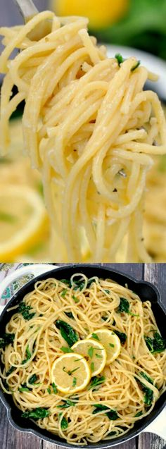 This Easy Lemon Garlic Pasta from My Suburban Kitchen is a recipe that is perfect when you don't have a ton of time to spend getting dinner ready!