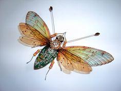 Large Jewelled Circuit Board Moth by DewLeaf on Etsy