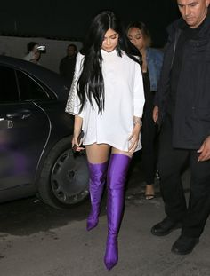 Kylie Jenner's Balenciaga Spandex Boots