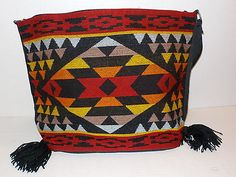 New-SOUTHWESTERN-Aztec-Native-Print-WOMENS-Acrylic-Shoulder-Bag-Purse-Western-k