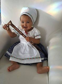 FolkJarka / Detský kroj Halloween Costumes For Kids, Have A Great Day, Barbie, Children, Hats, Womens Fashion, Mothers, People, Photography