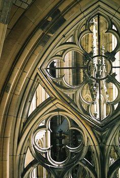 WINTERBERRY — Gothic window….
