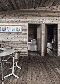 Gray stained rustic wood : Idyllic architectural element