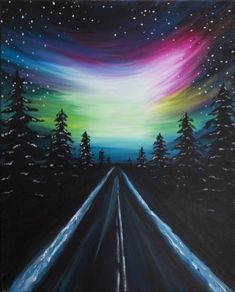 Find the perfect thing to do tonight by joining us for a Paint Nite in Parma, OH, United States, featuring fresh paintings to be enjoyed over even fresher cocktails! Road Painting, Painting & Drawing, Cute Canvas Paintings, Canvas Art, Memes Arte, Oil Pastel Art, Guache, Pictures To Paint, Painting Inspiration