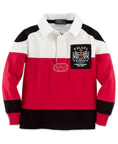 Ralph Lauren Kids Shirt, Little Boys Long-Sleeve Rugby