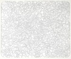 """Thom Faulders, Cluster Diagram, 2001; graphite and gesso on paper; 14 x 17 in. (35.56 x 43.18 cm); Collection SFMOMA 
