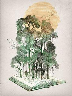 Jungle Book Art Print by David Fleck   Society6 Zentangle en aquarel