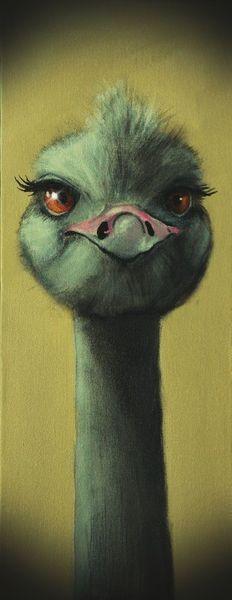 'Das zwinkern lerne ich auch noch...' Malerei von  Iwona Sdunek alias Anowi bei artflakes.com als Poster oder Kunstdruck