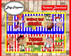 jake and the neverland pirates Straw Tags door PrintablesMirtaGyle