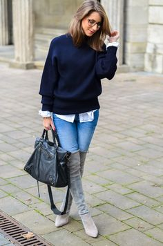OUTFIT: OOOPS I DID IT – OVERKNEE BOOTS X BLUE JEANS