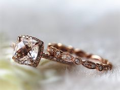 "InOurStar,to help more people find beautiful ways to say :I love you"" with a gift of fine jewelry.    Morganite Engagement Ring:  Metal Type:14k Rose"