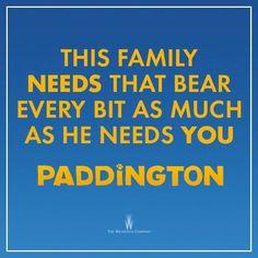 The Brown family need Paddington in their family just as much as Paddington needs a home. #PaddingtonMovie