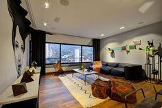 ¡Fuera de serie! Conoce el diseño único de este apartamento de soltero. Decohunter. El arte y la creatividad son el hilo conductor de este proyecto de interiorismo residencial, creación de la firma 5 Sólidos, en la exclusiva zona de El Poblado, en Medellín. Lee más aquí