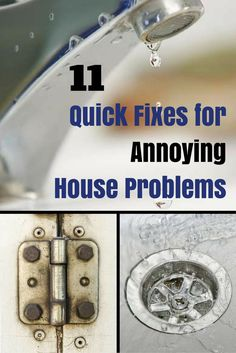Home maintenance is a perennial task. Small home problems will become big problems if those maintenance issues are not fixed quickly. Here are 11 quick and easy fixes for some of the most common and annoying home maintenance problems.