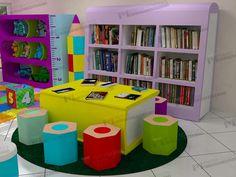 biblioteca infantil - Pesquisa Google                                                                                                                                                                                 Más