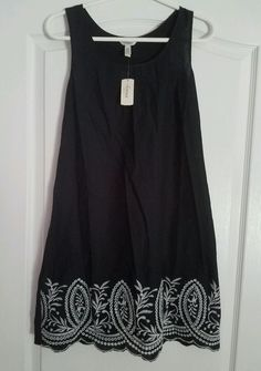 Beautiful soma nightgown/loungewear Black with white embroidery #SomaIntimates #Gowns $28.99