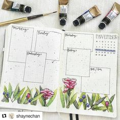 #Repost @shaynechan (@get_repost) ・・・ Spread for next week all ready to go! I'm not entirely satisfied with how this turned out. I think there's too much green and the non-greens just don't stand out enough . However, the key functional journaling bits are fine so whatever beef I have with the artistic elements won't keep me from filling this up. I'm a little surprised my perfectionist side isn't demanding I redo this.  • What do you do if you face similar frustrations with your spreads...