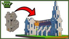 minecraft village church floating island transformation series