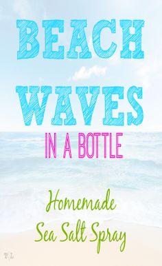 Homemade Sea Salt Spray Recipe | This Girls Life Blog