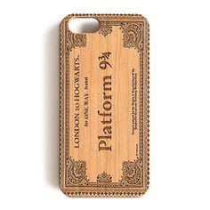 "iPhone 7 Wood Case, Harry Potter London To Hogwarts Ticket Platform 9 & 3/4 Wood-Pattern Case For iPhone 7 case 4.7"""