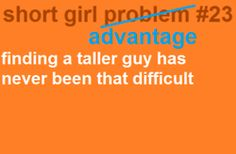 I've never had to give the matter a second thought. #petite #short_girl #problems