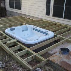 In ground Hot Tub - Yelp garden hot tubs Building A Pergola, Pergola Plans, Pergola Kits, Spas, Hot Tub Privacy, Hot Tub Backyard, Landscape Structure, Pergola Designs, Garden Structures
