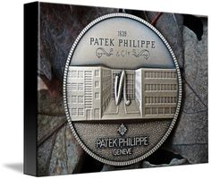 """Patek Philippe Geneve Commemorative Medal Coin $74 // Style: Black Edge Canvas Print; Size: Small 11"""" x 15"""" // Visit http://www.imagekind.com/Patek-Philippe-Geneve-PPG_art?IMID=8a85802b-eeec-4645-9012-f6a2af3151ab for product details."""