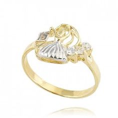 Anillo de oro. Fake Tattoos, Quinceanera Dresses, Most Beautiful, Gold Rings, Sapphire, Rose Gold, Jewels, Engagement Rings, Diamonds
