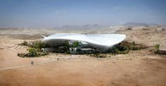 "Designed by Snøhetta  ""King Abdullah Center for Dialogue""  A hub for the growing and increasingly diverse Muslim World and a world class center for intercultural studies. And a centerpiece for the new Mecca Gateway City. The solar harvesting fabric superstructure protects from the harsh desert sun, making the site a re-creation of an Oasis. A future destination for academics, pilgrims and world leaders, imparting to all of its visitors the spirit of tolerance inherent in Islam."