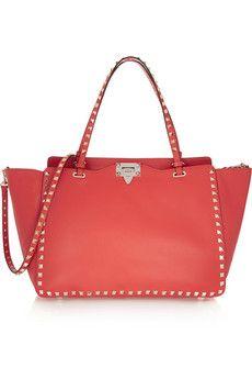 Valentino The Rockstud medium leather trapeze bag | NET-A-PORTER
