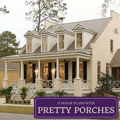 Southern homes are famous for their relaxing and beautiful front porches. Find some of our best house plans with porches here.
