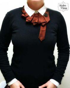 Olivo único reutilizar corbata arte accesorio por stylesbyana