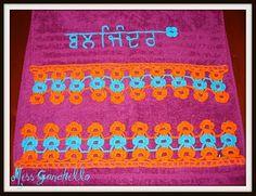 "Crochet - Toallas ""Punjabi"""